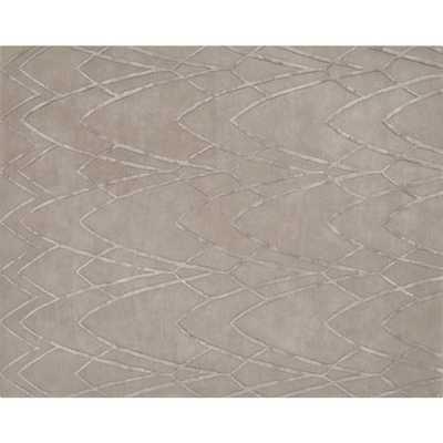 Ballad Oat Grey Textured Rug 8'x10' - CB2