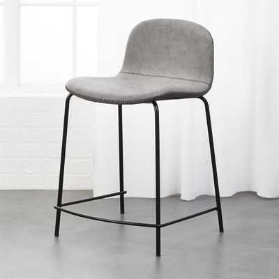 "Primitivo Grey 24"" Counter Stool - CB2"