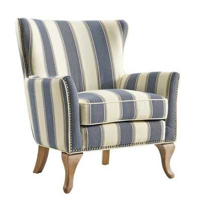 Zubair Armchair - Blue striped - Wayfair