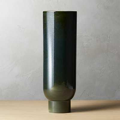 canopy large dark green vase - CB2