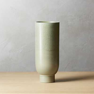 canopy small light green vase - CB2
