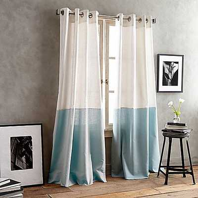 DKNY Color Band 84-Inch Grommet Top Window Curtain Panel in Seafoam - Bed Bath & Beyond