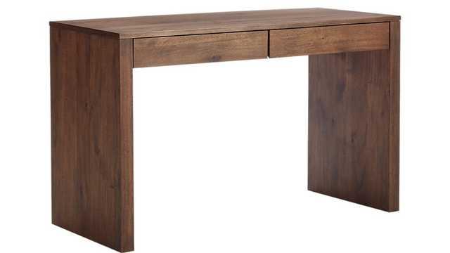 Runway Acacia Wood Desk - CB2