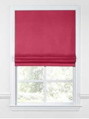 Flat Roman Shade  Sunbrella® Canvas - Hot Pink - Loom Decor