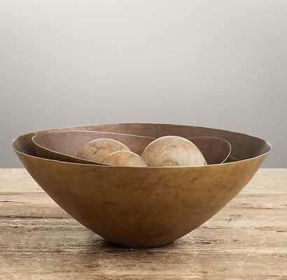 Aged Brass Bowl- Small - RH