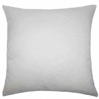 "Pertessa Geometric Pillow Bone - 22''x 22"" - down insert - Linen & Seam"