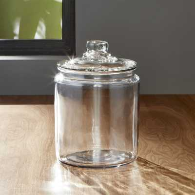 Heritage Hill 64 oz. Glass Jar with Lid - Crate and Barrel