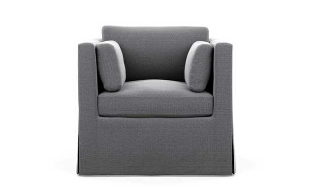Miles Chairs with Petite in Tin Fabric - Interior Define