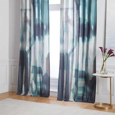 "Cotton Seaglass Curtains (set of 2), 48"" x 96"" - West Elm"