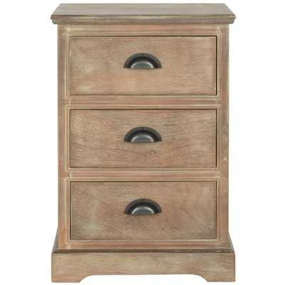 Griffin Washed Natural Pine Storage End Table - Arlo Home