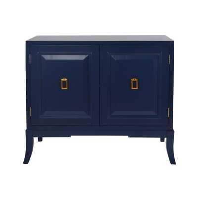 Mettler 2 Door Accent Cabinet - Navy Blue - AllModern