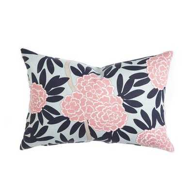 NAVY FLEUR CHINOISE PILLOW - insert not included - Caitlin Wilson