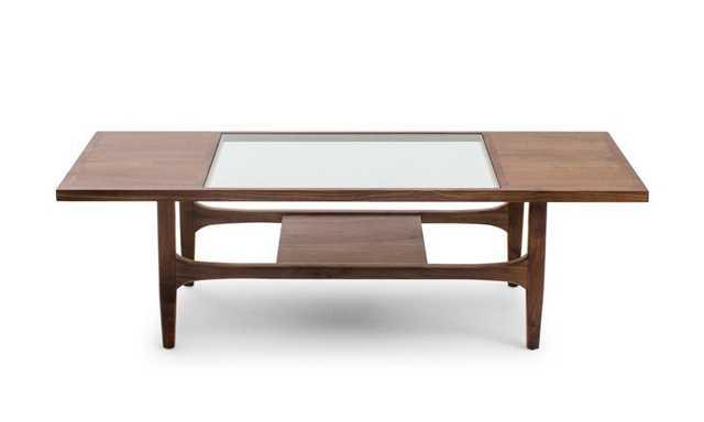 Tate Mid Century Modern Coffee Table - Walnut - Joybird