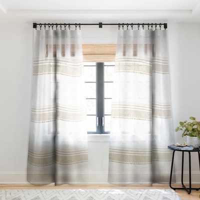 FRENCH LINEN TASSEL Sheer Window Curtain, 2 Panels - Wander Print Co.