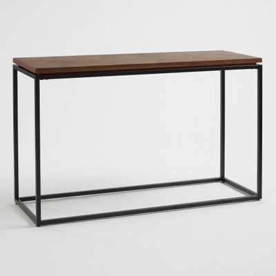 Teak Wood Slice and Metal Console Table by World Market - World Market/Cost Plus