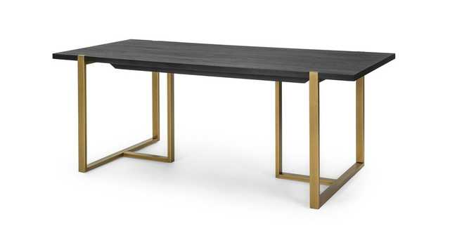 "Oscuro Black 78"" Dining Table - Article"