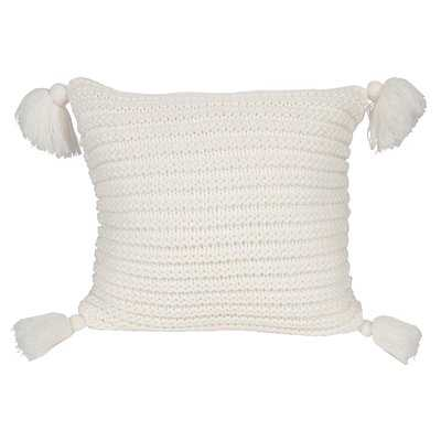 Dorcheer Ribbed Knit Throw Pillow Cover - Wayfair