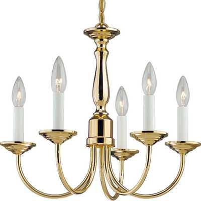 Progress Lighting 5-Light Polished Brass Chandelier - Home Depot
