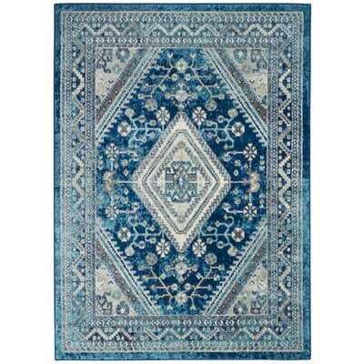 Mallery Persian Oriental Ivory/Turquoise Blue Area Rug - Wayfair