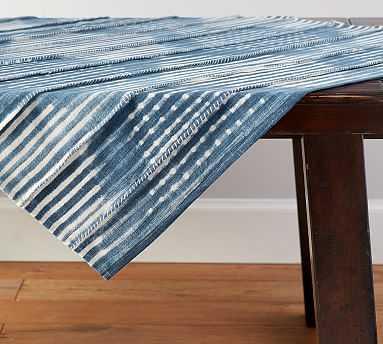 Shibori Diamond Table Throw - Pottery Barn