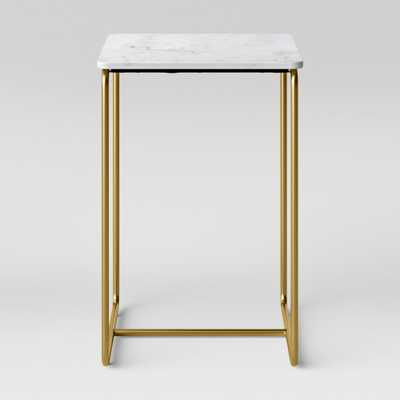 Mogenson Square Marble Accent Table White - Project 62 - Target