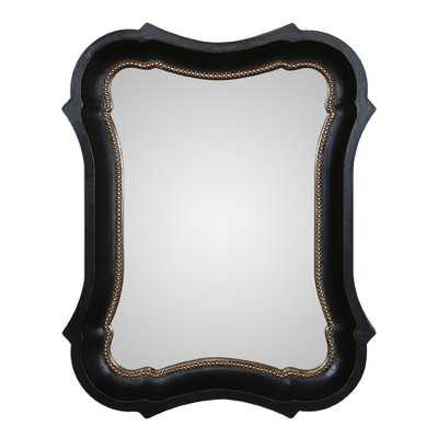Irregular Black Wall Mirror - Wayfair