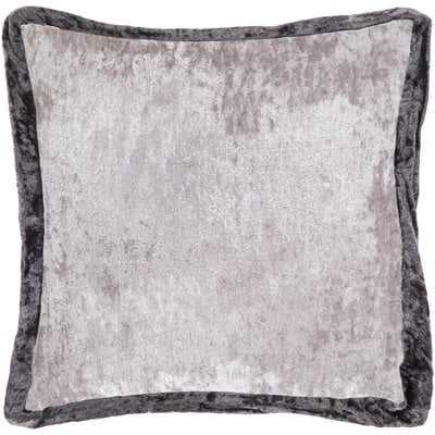 Cyber Crushed Velvet Throw Pillow in , Pillow With Polyester Insert - Wayfair