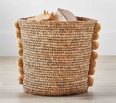 Woven Pom Pom Storage, Large - Pottery Barn Kids