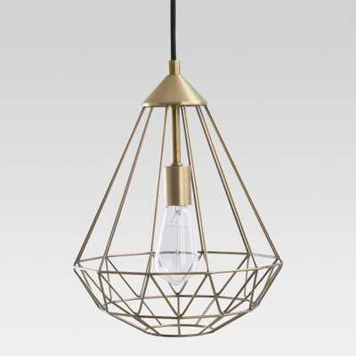 Entenza Faceted Geometric Pendant Ceiling Light Brass Lamp Only - Project 62 - Target