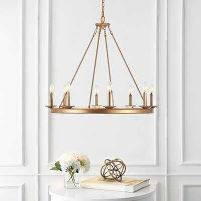 Natal 8-Light Candle Style Wagon Wheel Chandelier - Wayfair