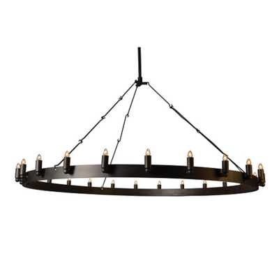 Y Decor Verdun 24-Light Iron Black Chandelier - Home Depot