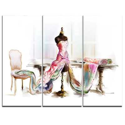 Dressed Tabletop Mannequin - 3 Piece Graphic Art on Wrapped Canvas Set - Wayfair