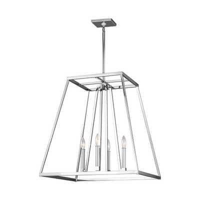 Feiss Conant 4-Light Chrome Chandelier - Home Depot
