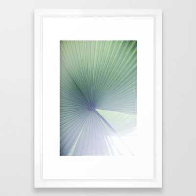Palm Leaves 5 Framed Art Print - Vector White - Society6