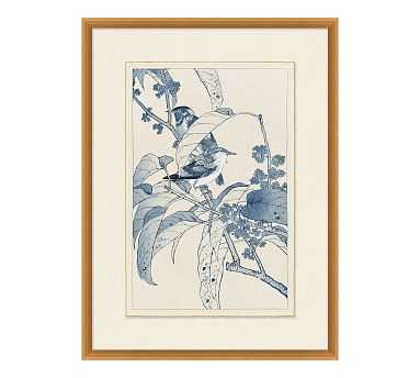 Birds In Blue Framed Paper Print, #2 - Pottery Barn