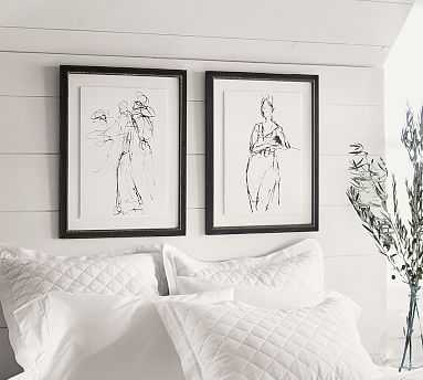"Gestural Figural Sketches Framed Print, 20 x 26"", Set of 2 - Pottery Barn"