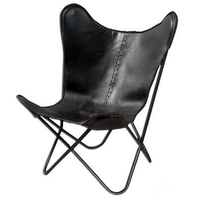 Leather Butterfly Lounge Chair - Wayfair