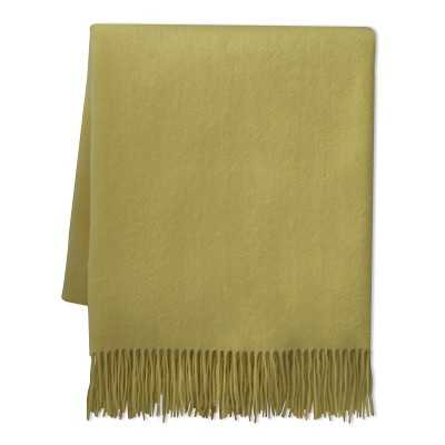 """Solid Cashmere Throw, 50"""" X 65"""", Chartreuse - Williams Sonoma"""