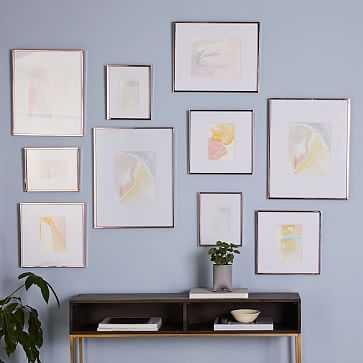 Gallery Frames, Rose Gold, Set of 10 - West Elm