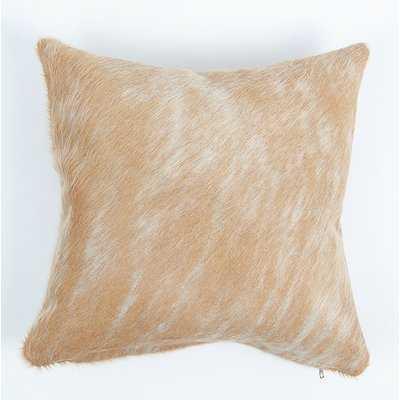 Pinnock Natural Leather Pillow Cover - Wayfair