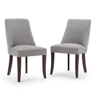 Walden Grey Fabric Dining Chair (Set of 2) - Home Depot