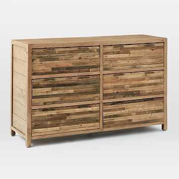 Bay Reclaimed Pine 6-Drawer Dresser - Rustic Natural - West Elm