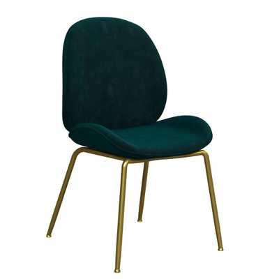 Astor Velvet Dining Chair Green - Cosmoliving - Target