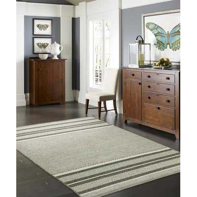 Phillipston Granite Hand-Knotted Cotton Gray Area Rug - Wayfair