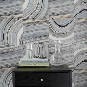 Strata Marble Tile Wallpaper - West Elm