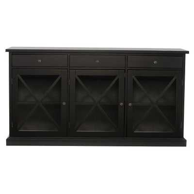 Hampton Black Buffet - Home Depot