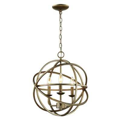 Bel Air Lighting 3-Light Antique Silver Pendant - Home Depot