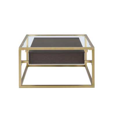 ACME Furniture Yumia Clear Glass and Gold Coffee Table - Home Depot