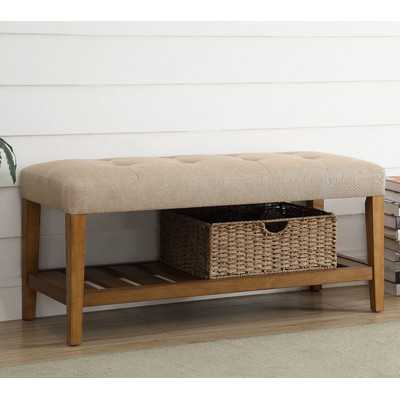 Warwickshire Wood Storage Bench - Wayfair