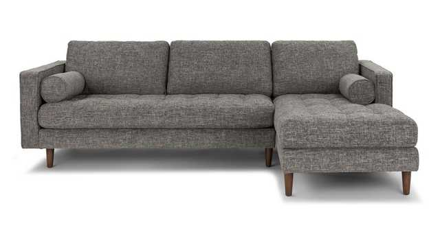 Sven Briar Gray Right Sectional Sofa - Article
